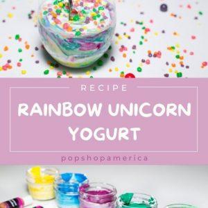 hero rainbow unicorn yogurt recipe by pop shop america diy