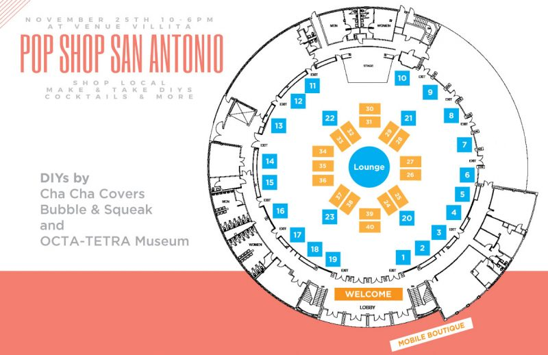 pop shop san antonio craft fair site map
