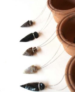 agate and obsidian arrowhead necklaces pop shop america