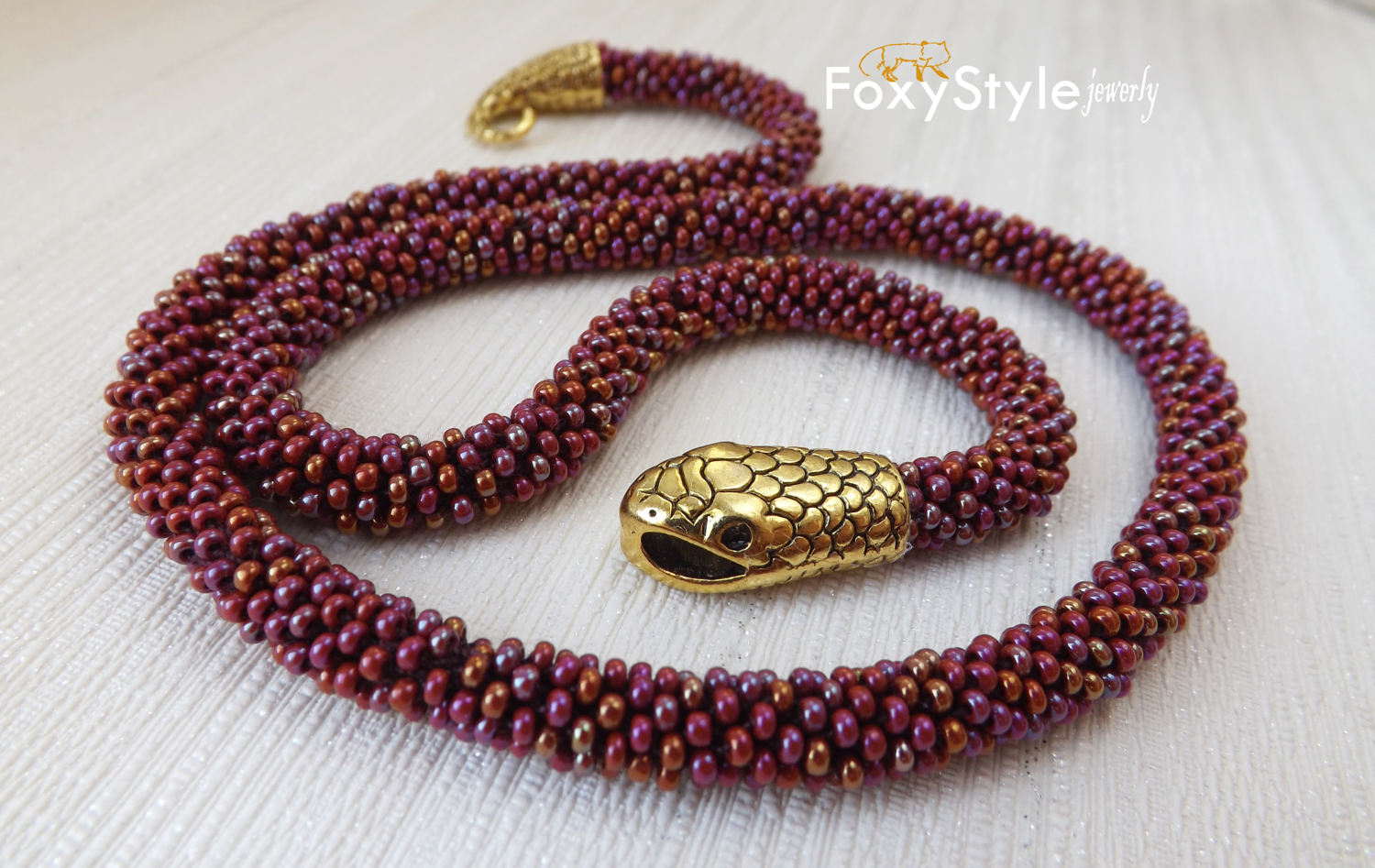 foxy style jewelry snake necklace
