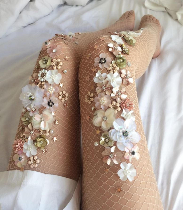 lirika matoshi jeweled tights diy etsy shop