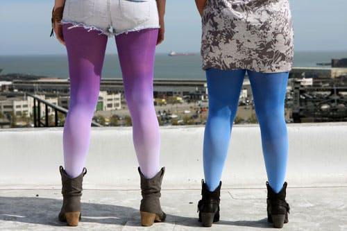 ombre tights diy best diy tights for winter