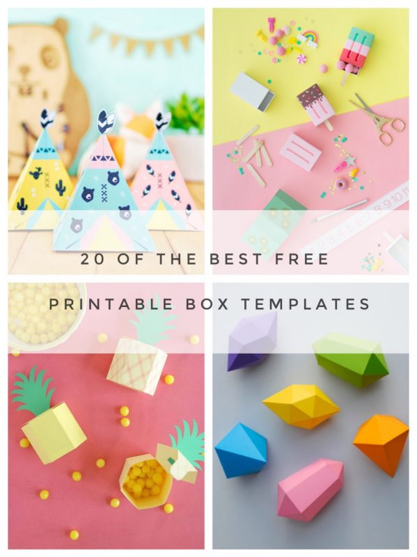 photo relating to Printable Gift Box named 20 of The Simplest No cost Printable Box Templates