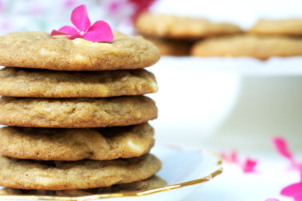 White Chocolate Rosewater Cookies