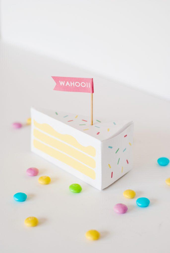 birthday cake box - free gift box templates