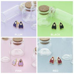 color choices of handmade ouija stud earrings