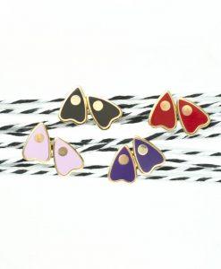 ouija board earrings 22k gold