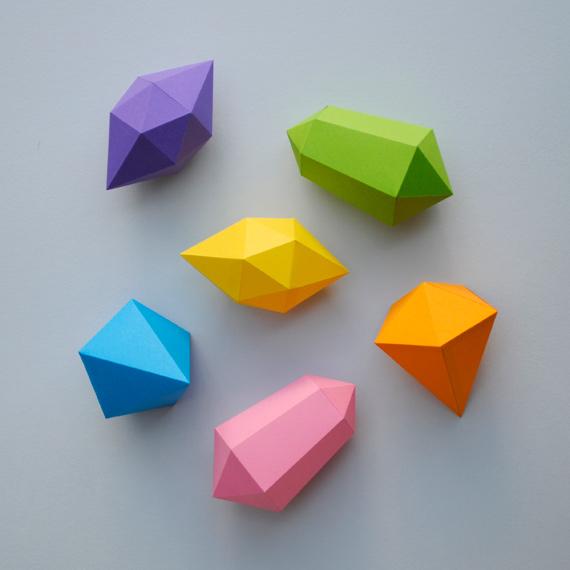 paper-gem foldable boxes
