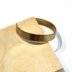 simple handmade brass bangle bracelet