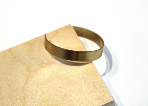 simple handmade brass bangle bracelet