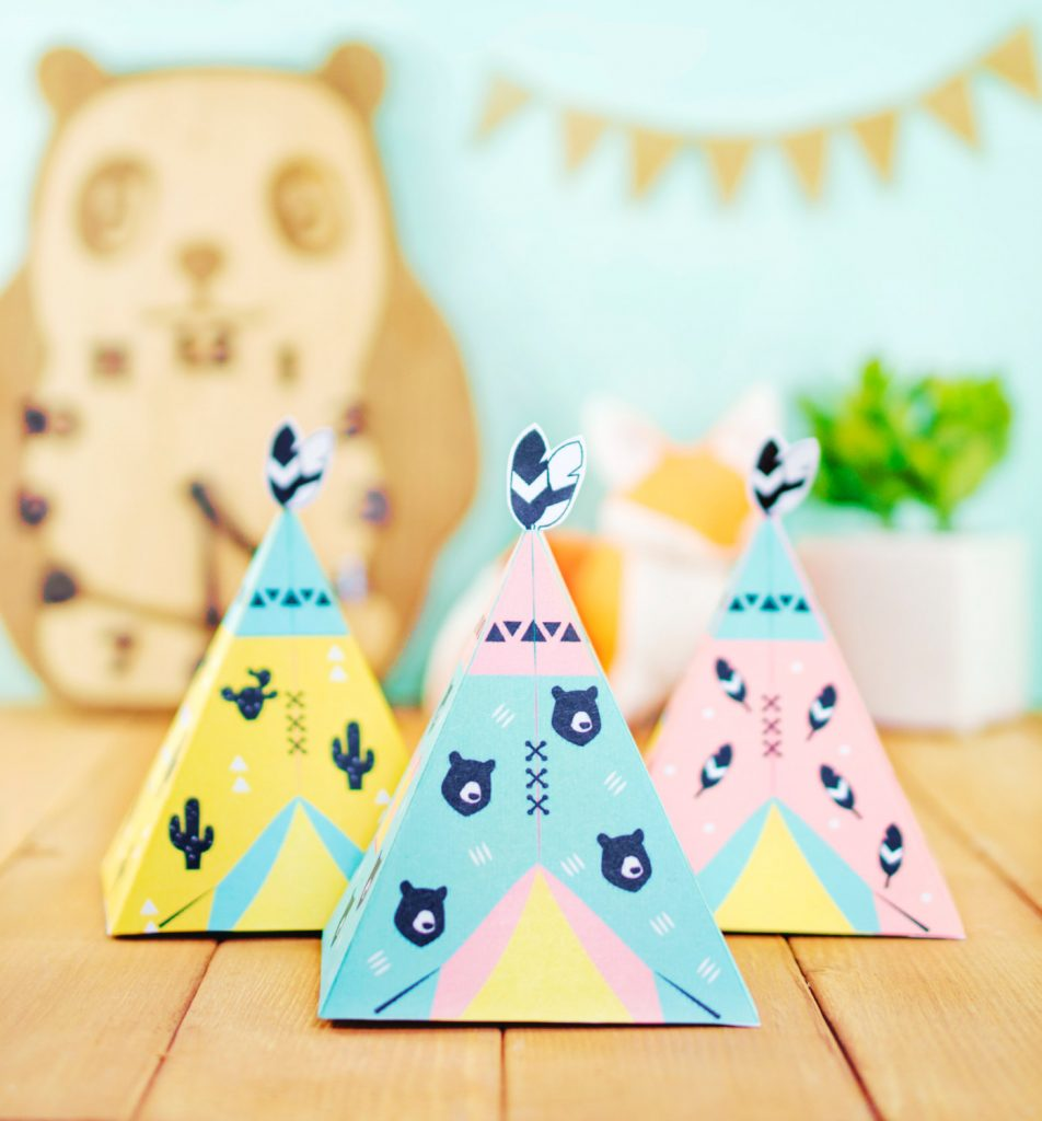 teepee paper box template