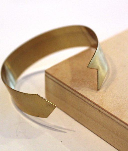 triangle hook and eye brass bracelet pop shop america