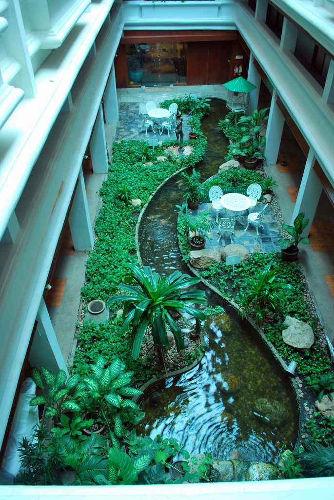indoor atrium greenhouse inspiration
