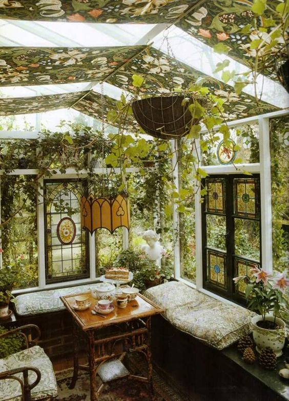 small at home greenhouse with seating pop shop america