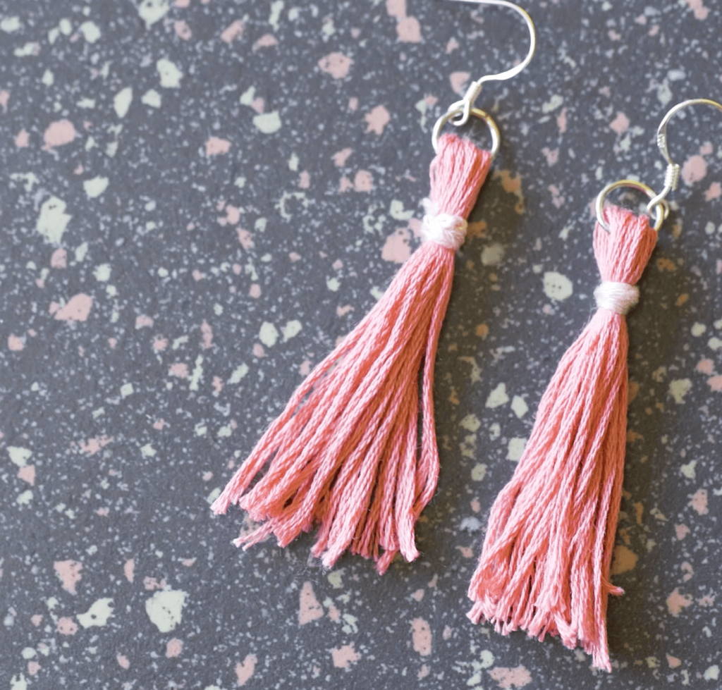 diy tassel earrings pop shop america