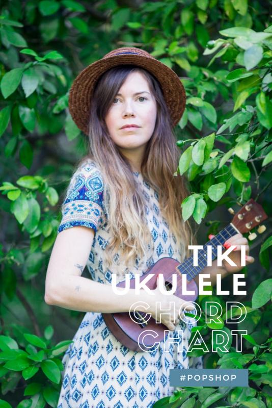 tiki ukulele standard chord chart printable free
