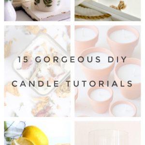 15 gorgeous candle tutorials pop shop america