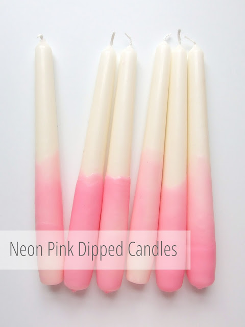 pink dipped candles pop shop america