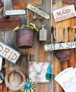 rustic wood painted sign art class craft class pop shop america
