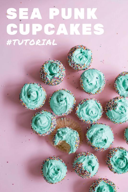 sea punk cupcakes craft tutorial
