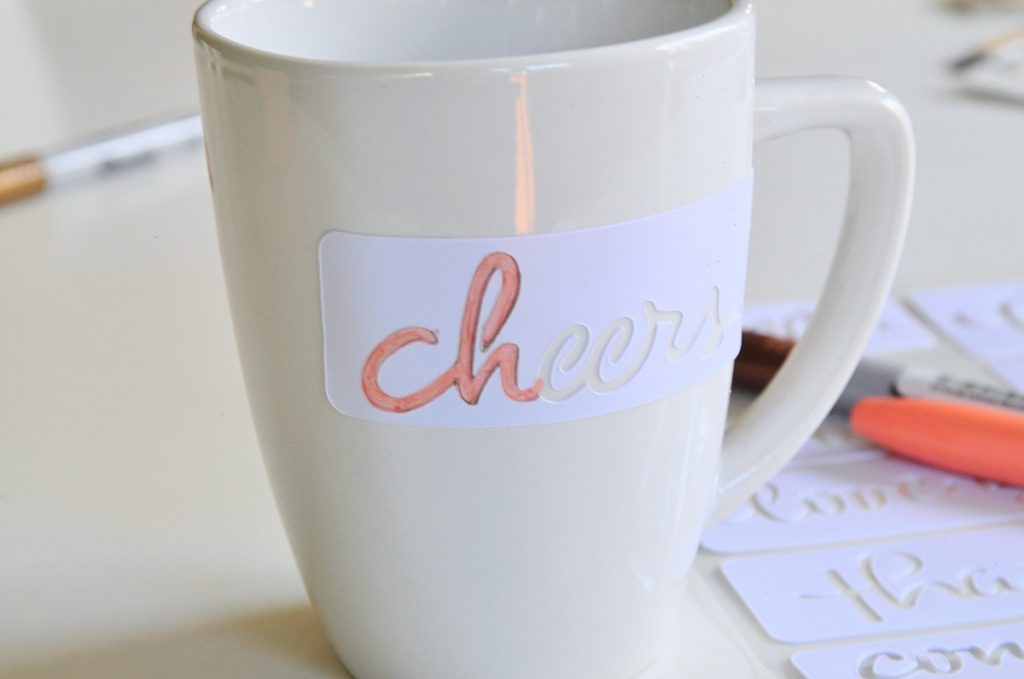 stencil coffee mug diy pop shop america
