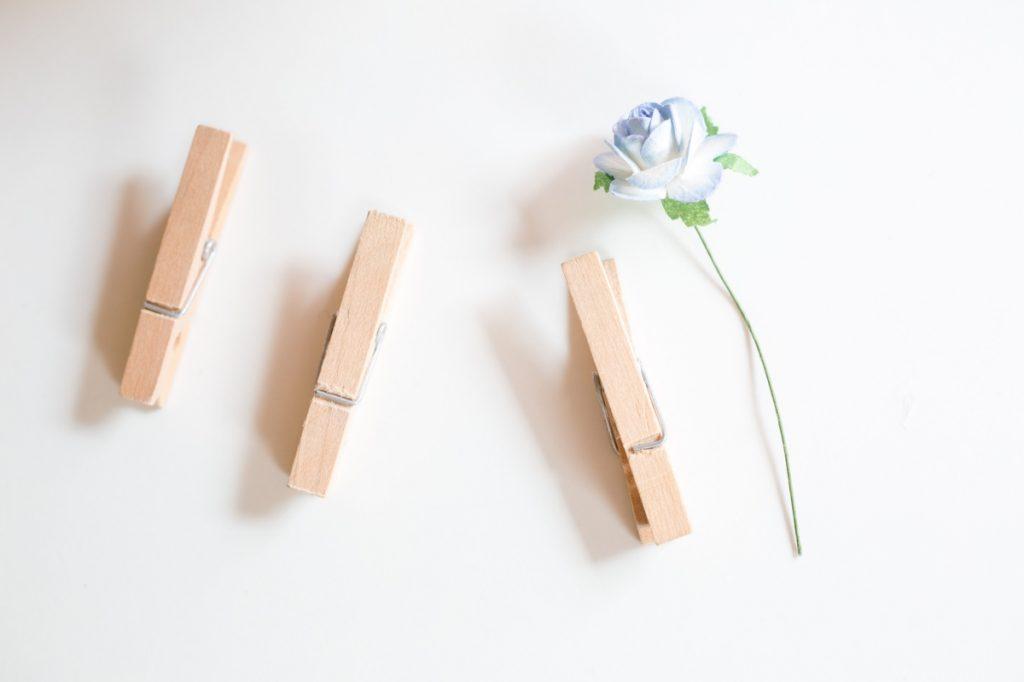 supplies to make diy flower clothespins
