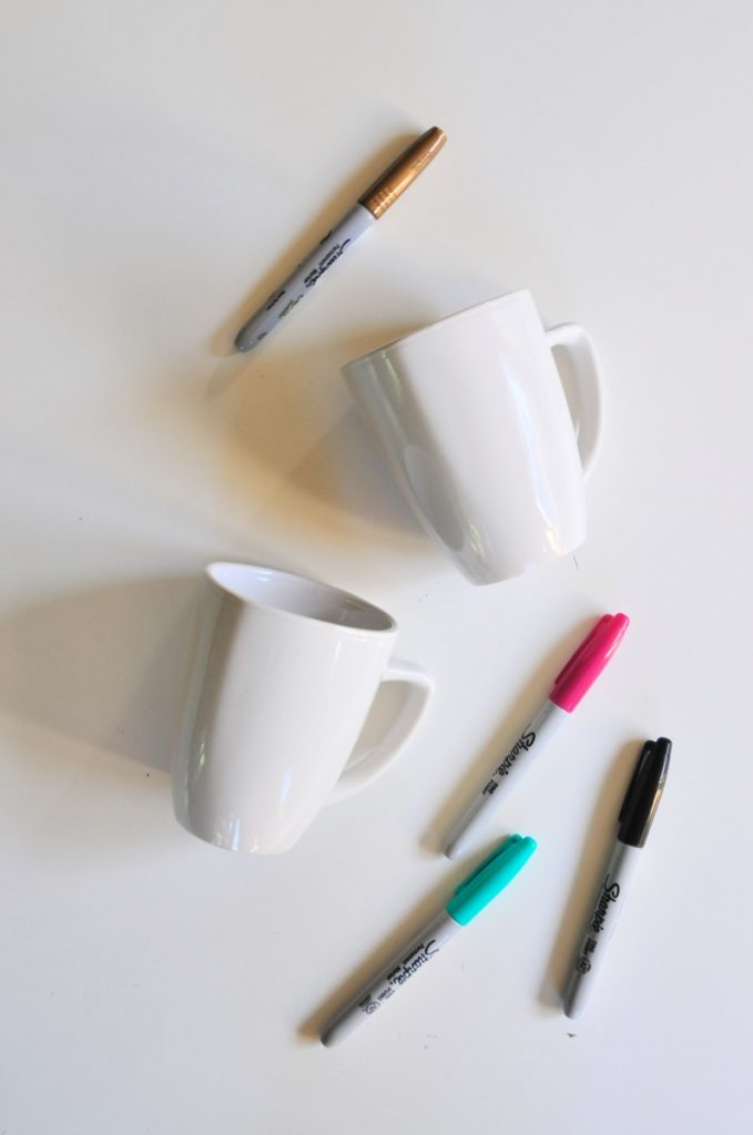 supplies to make sharpie coffee mugs pop shop america