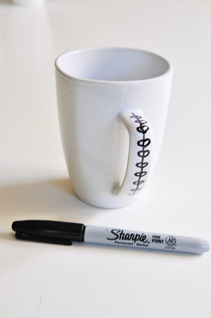 vines on coffee mug handle diy sharpie coffee mug