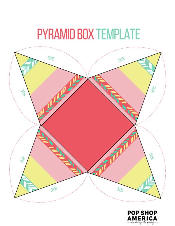 Pink-Pyramid-Teepee-Printable-Treat-Box-Template