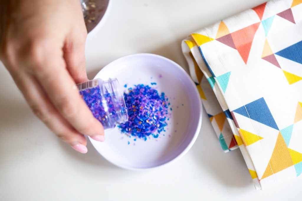 blue edible glitter sugar cookies recipe