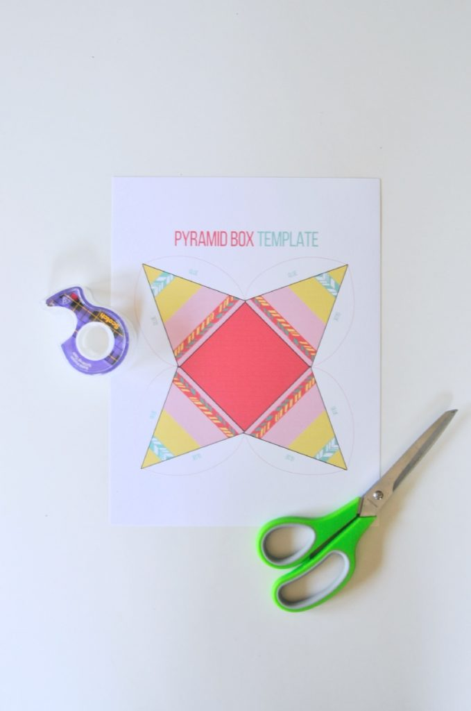 boho pyramid foldable box template