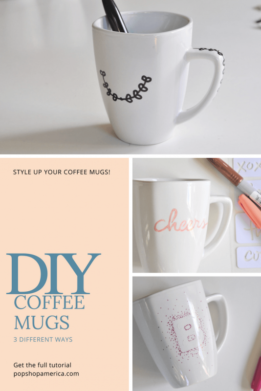 diy sharpie coffee mugs pinterest pop shop america