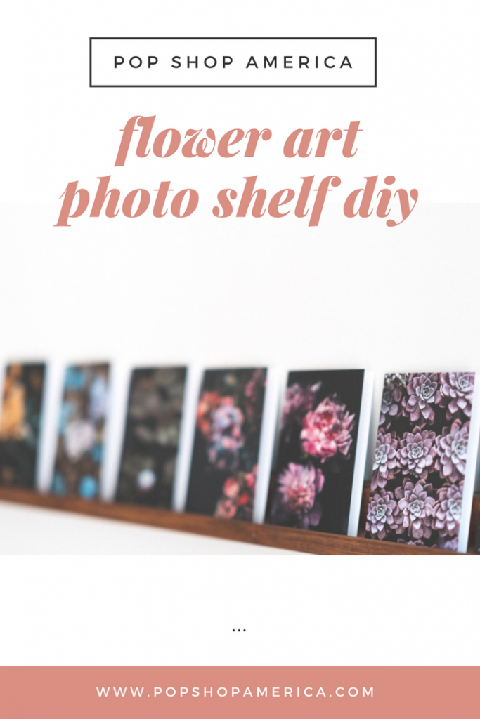 flower art photo shelf diy feature pop shop america