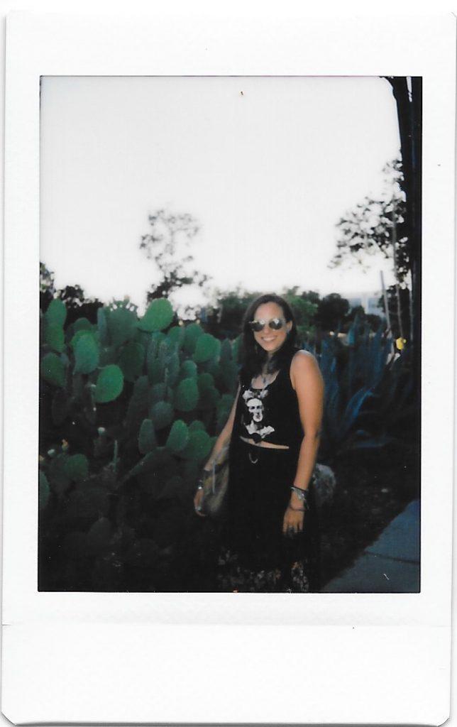michelle with cactus austin tx polaroid instax mini 9