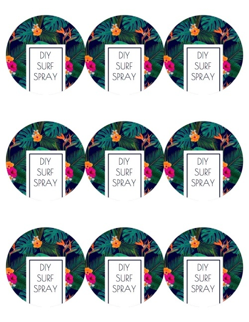 preview only diy surf spray labels get the full size at popshopamerica