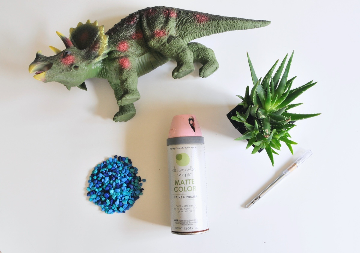 supplies to make a dinosaur planter pop shop america