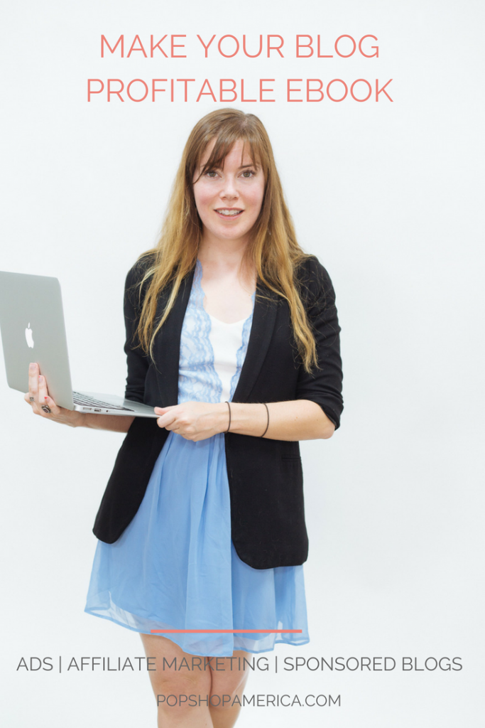 Make your blog profitable Ebook Pop Shop America