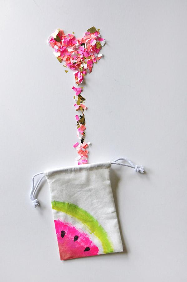 Mini-Watermelon-muslin bag diy