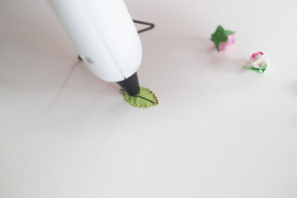 add leaves with hot glue gun pop shop america diy blog