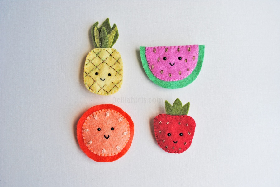 felt fruit brooches diy pop shop america