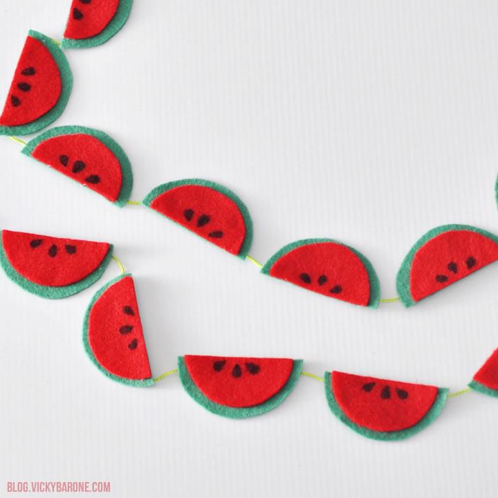 felt watermelon garlands pop shop america