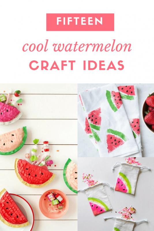 fifteen cool watermelon craft tutorials