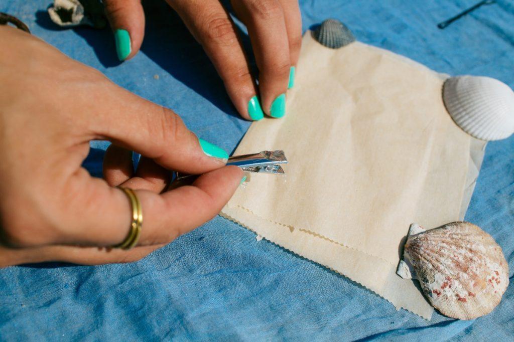 how to make a diy seashell hair clip pop shop america