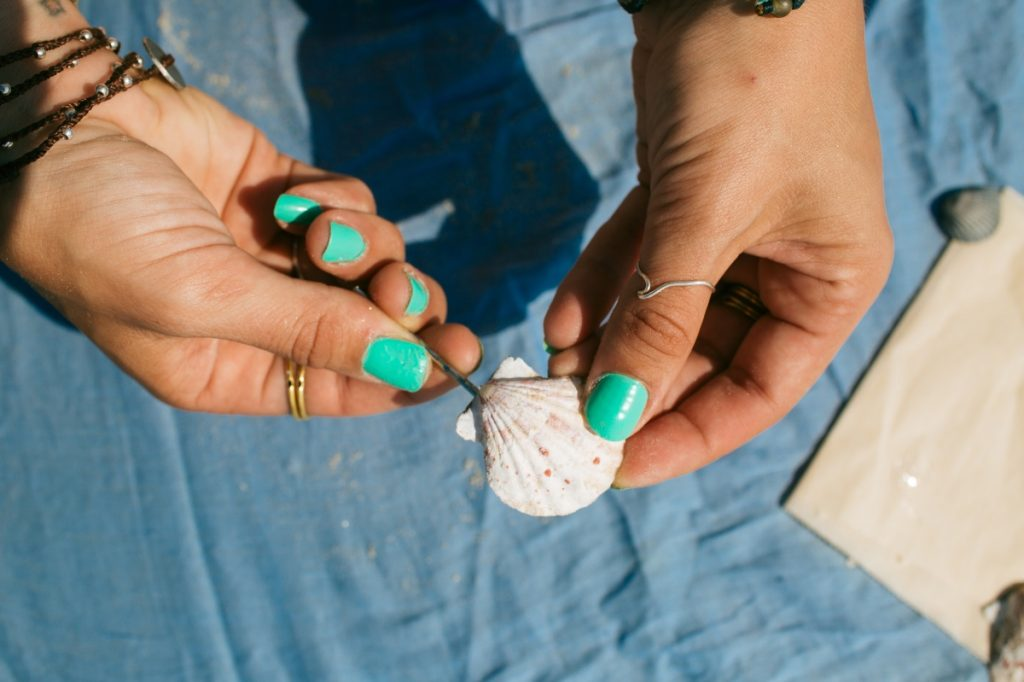 how to make seashell barrettes pop shop america
