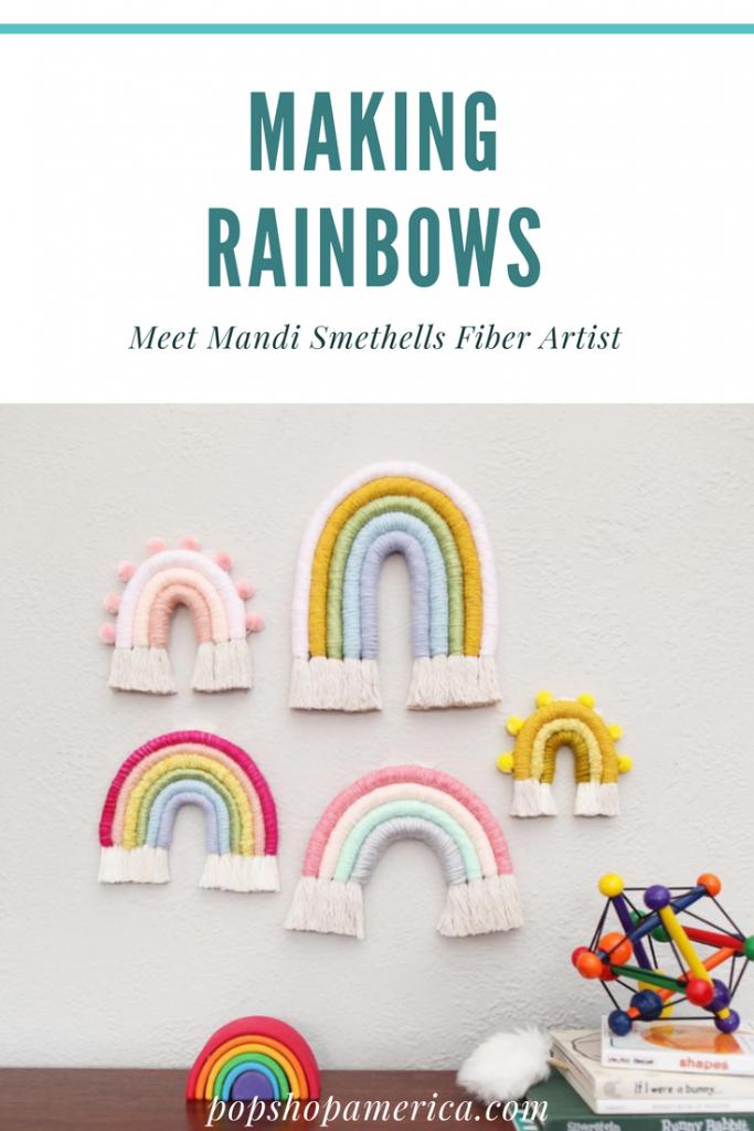 rainbow color experiment mandi smethells fiber art