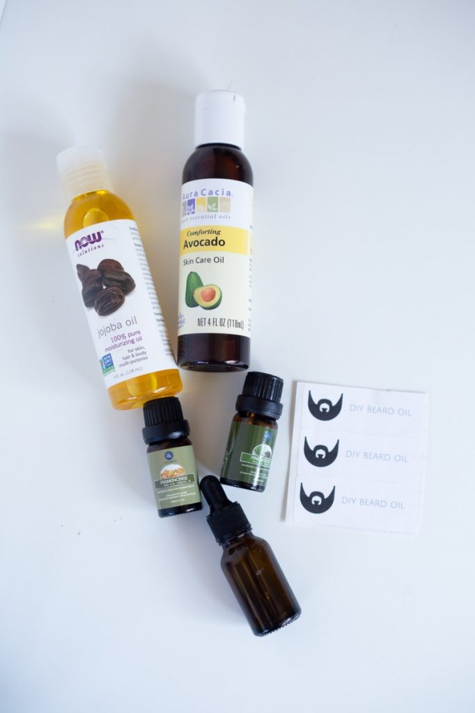 supplies to make diy beard oil pop shop america