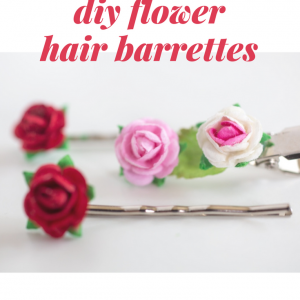 teeny tiny diy paper flower hair barrettes feature