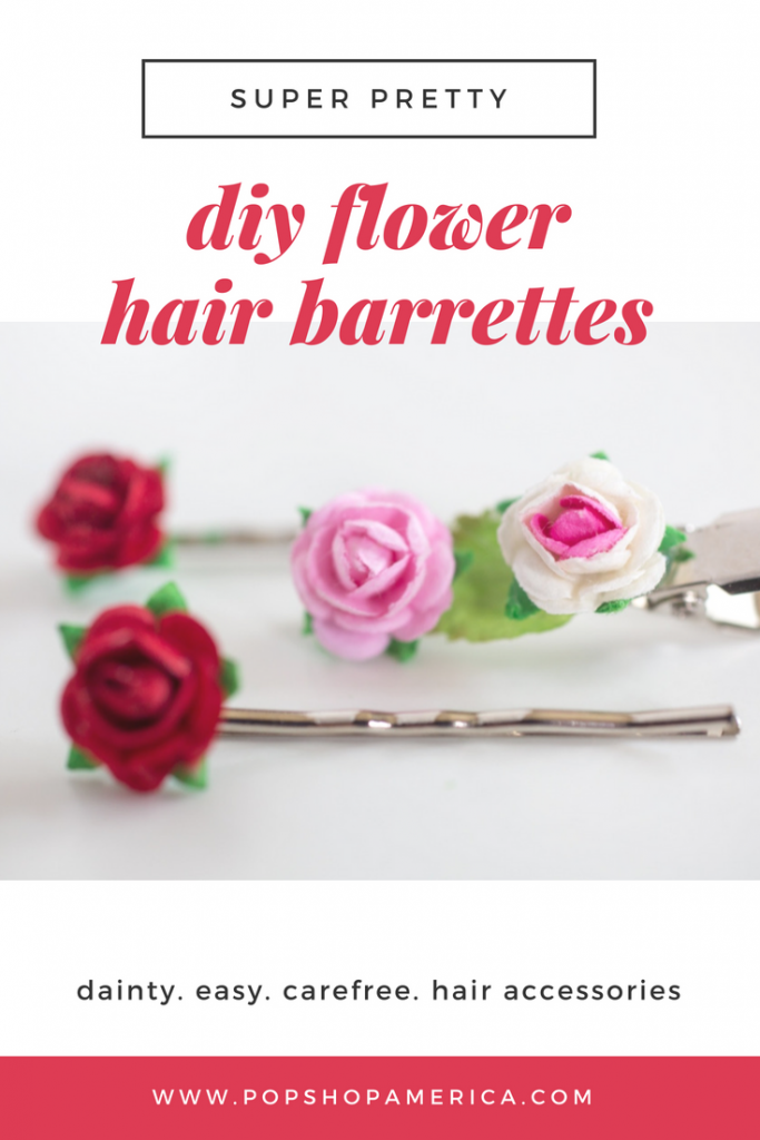 Teeny tiny diy flower barrettes mightylinksfo