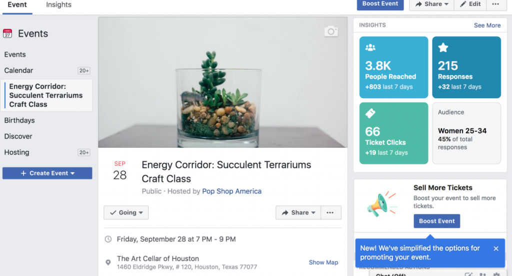 use facebook events to increase your organic business reach