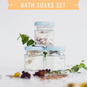 diy floral milk bath soak set pop shop america